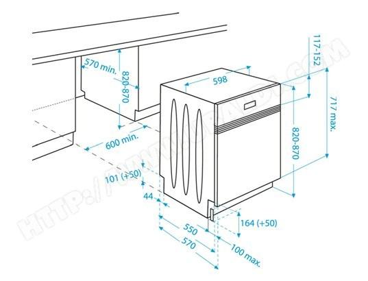 Beko Dsn6835x Lave Vaisselle Integrable 60 Cm Beko Livraison