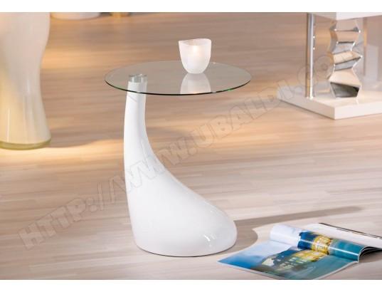 table d 39 appoint ub design vito blanc pas cher. Black Bedroom Furniture Sets. Home Design Ideas