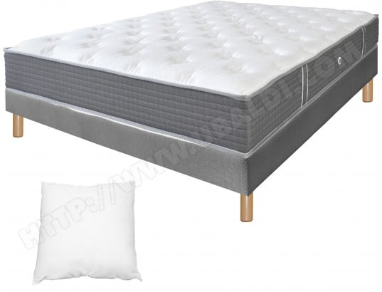 ensemble matelas sommier 90 x 190 duvivier lit kine deco 90x190 pied naturel. Black Bedroom Furniture Sets. Home Design Ideas