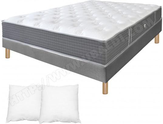 ensemble matelas sommier 140 x 190 duvivier lit kine deco 140x190 pied naturel. Black Bedroom Furniture Sets. Home Design Ideas