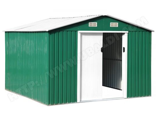 Abri De Jardin Metal Lams 772826 Vert Et Blanc 8m2 Pas Cher Ubaldi Com