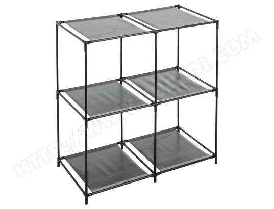 commode en m tal 4 casiers h 70 cm noir id space ma 71ca192comm mlmfz pas cher. Black Bedroom Furniture Sets. Home Design Ideas