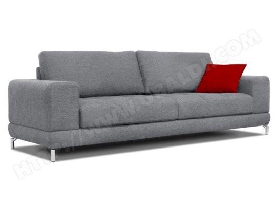 Canape Tissu Ub Design Jessica 3 Places Gris Pas Cher Ubaldi Com