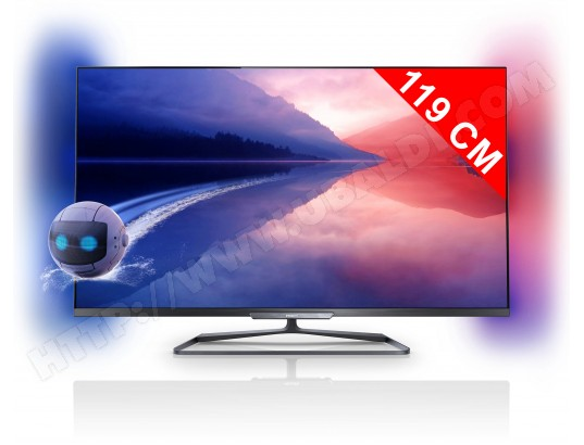 avis tv led full hd 3d 119 cm philips 47pfl6678k ambilight test critique et note. Black Bedroom Furniture Sets. Home Design Ideas