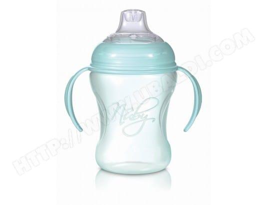 Nuby Biberons anti-reflux avec t/étines anti-coliques Lot de 2 bouteilles de 240 ml Avec brosse de nettoyage et t/étine.