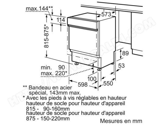 Siemens Sn56v590eu Lave Vaisselle Integrable 60 Cm Siemens
