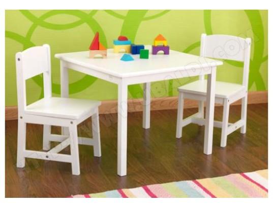 Ensemble Table Et Chaise Enfant KIDKRAFT 2 Chaises Aspen Blanc 21201