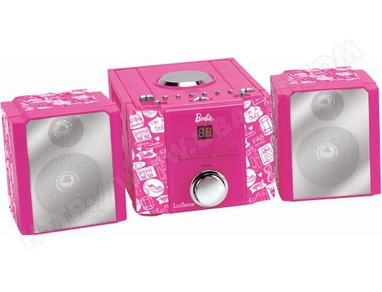 LEXIBOOK Mini chaîne enfant MH100BB Mini chaine hifi Barbie