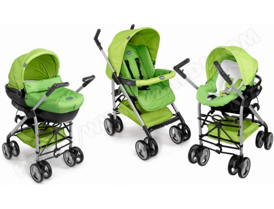 CHICCO Trio Sprint green wave - Poussette