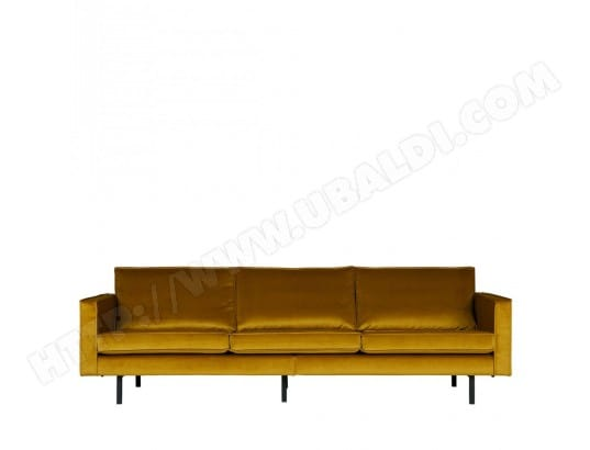 Grand canapé 4 places vintage velours Velvet Bronco - Couleur - Ocre DRAWER MA-72CA93_GRAN-HPFNH