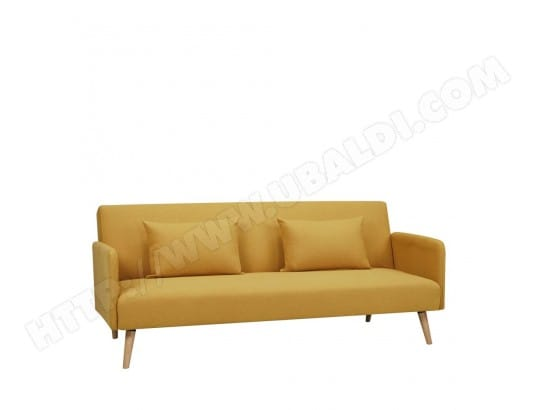 Canapé convertible scandinave 3 places Nielson - Couleur - Jaune moutarde DRAWER MA-72CA94_CANA-UEJ27