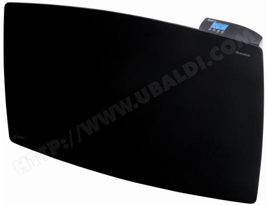 radiateur inertie ducasa ducafonte verre noir 1200w pas. Black Bedroom Furniture Sets. Home Design Ideas