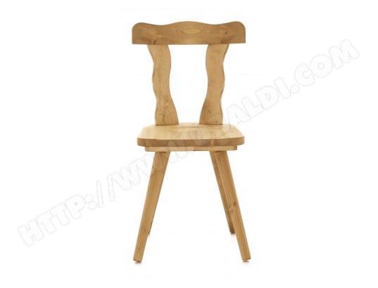 2x Chaise En Pin Massif Patrizia COULEURS DES ALPES MA 72CA4932XCH