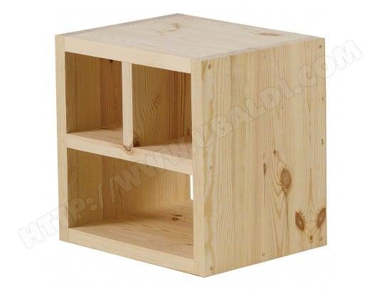 cube de rangement pin massif brut 3 niches matendance couleurs des alpes ma 72ca552cube 8ru0c. Black Bedroom Furniture Sets. Home Design Ideas