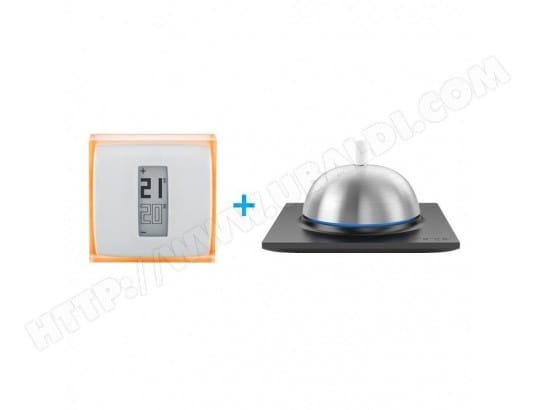 thermostat connect pour smartphone netatmo bouton connect concierge netatmo ma. Black Bedroom Furniture Sets. Home Design Ideas