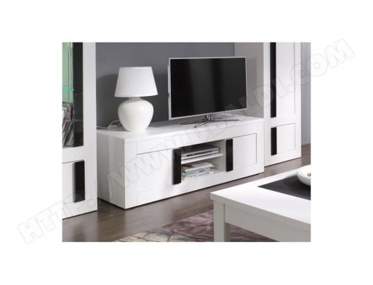 Meuble Tv Deco Scandinave Malmo Coloris Gris Beton Sonoma Price