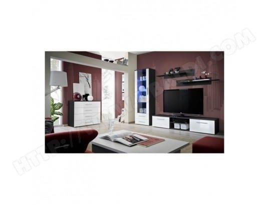 meuble tv galino b design coloris noir et blanc brillant meuble moderne et tendance pour votre. Black Bedroom Furniture Sets. Home Design Ideas