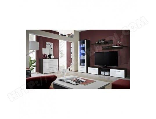 meuble tv galino b design coloris weng et blanc brillant meuble moderne et tendance pour. Black Bedroom Furniture Sets. Home Design Ideas