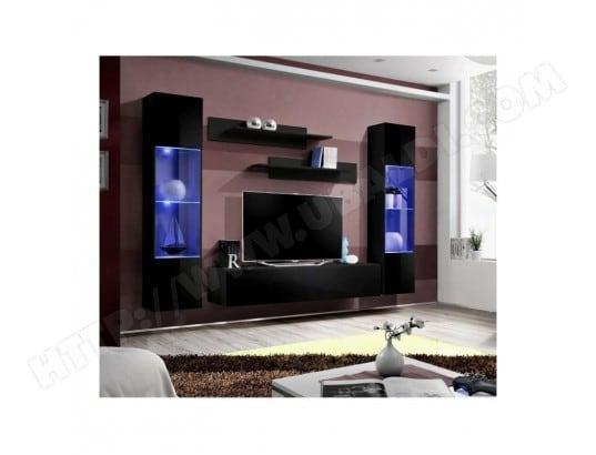 Meuble Tv Mural Design Fly Iii 260cm Noir Price Factory Ma 76ca494meub Qoi1s Pas Cher Ubaldi Com