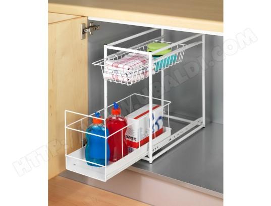 rangement de tiroir coulissant cuisine 2 niveaux blanc wenko ma 72ca555rang 2jca4 pas cher. Black Bedroom Furniture Sets. Home Design Ideas