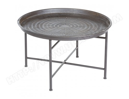 table d 39 appoint en m tal instant diam 65 cm gris atmosphera ma 23ca182tabl hziyj pas cher. Black Bedroom Furniture Sets. Home Design Ideas