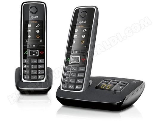 4951c3b4d0709b Téléphone sans fil SIEMENS GIGASET C530A Duo noir Pas Cher   UBALDI.com