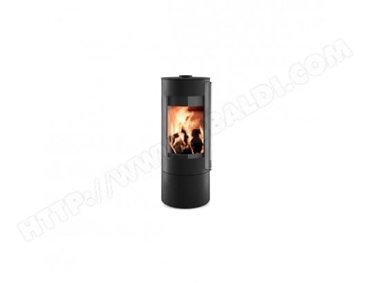 poele a bois noir fonte rond b ches de 33 cm. Black Bedroom Furniture Sets. Home Design Ideas