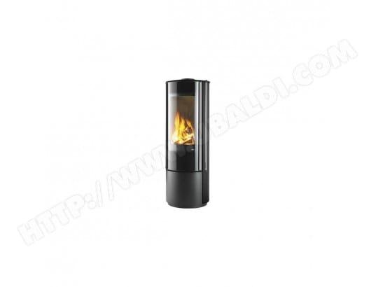 poele a bois 6 kw rond habillage noir rt 2012 supra 1042579 pas cher. Black Bedroom Furniture Sets. Home Design Ideas