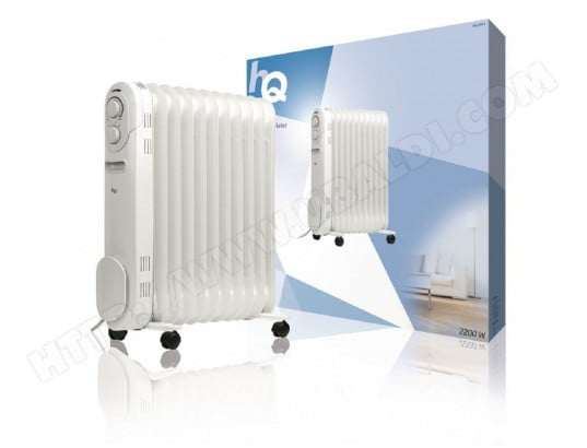 radiateur bain d 39 huile portable 2200 w blanc hq hq or11 pas cher. Black Bedroom Furniture Sets. Home Design Ideas