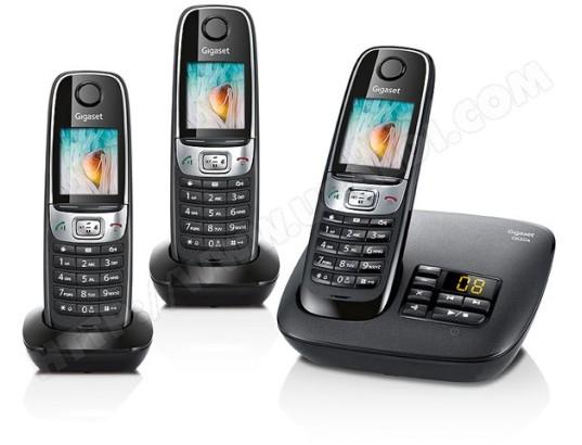 t l phone sans fil siemens gigaset c620a trio noir pas. Black Bedroom Furniture Sets. Home Design Ideas