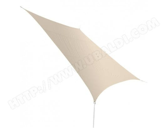 Voile d'ombrage rectangulaire 4,20 x 3,00 m - taupe JARDIDECO 3345