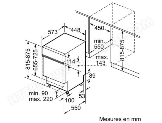 Bosch Spi69t25eu Lave Vaisselle Integrable 45 Cm Bosch Livraison