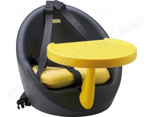 rehausseur de chaise beaba babyboost gris jaune harnais 5. Black Bedroom Furniture Sets. Home Design Ideas