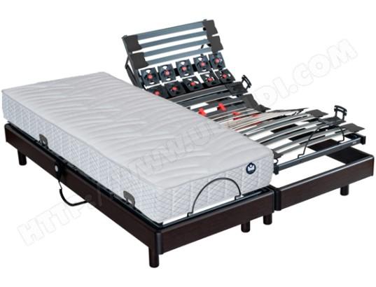 matelas sommier 2 x 80 x 200 bultex pop art sigma electrique wenge 2x i915 80x200 pas cher. Black Bedroom Furniture Sets. Home Design Ideas