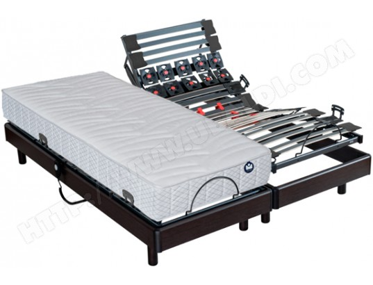 matelas sommier 2 x 90 x 200 bultex pop art sigma electrique wenge 2x i915 90x200 pas cher. Black Bedroom Furniture Sets. Home Design Ideas