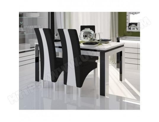 Table 180 Cm 6 Chaises LINA Pour Salle Manger Brillante