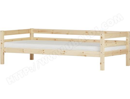 lit enfant flexa lit avec barrire 90x190 vernis naturel - Lit Enfant 90x190