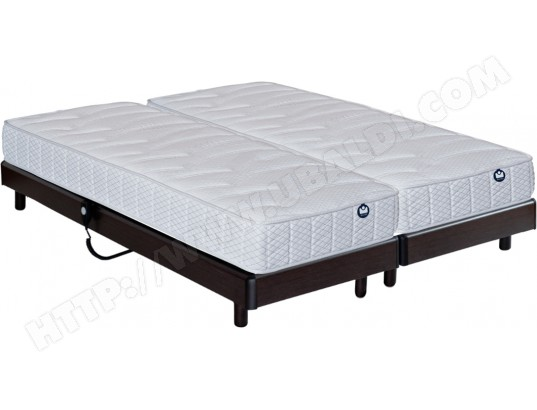 matelas sommier 2 x 90 x 200 bultex pop art sigma electrique wenge 2x i935 90x200 pas cher. Black Bedroom Furniture Sets. Home Design Ideas