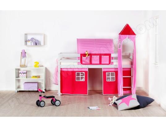 Cabane Pour Lit FLEXA Cabane Rose Pas Cher UBALDIcom - Lit cabane rose