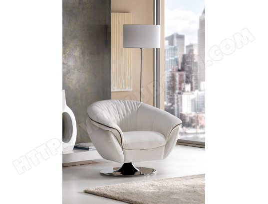 fauteuil satis golden fauteuil pivotant blanc taupe pas. Black Bedroom Furniture Sets. Home Design Ideas
