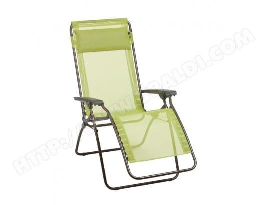 Chaise longue relax pliante multiposition en acier et toile ...