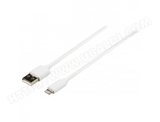 Câble de charge et sync USB AM - Lightning Apple Lightning - A mâle 1.00 m Blanc ALPEXE MA-73CA40_CABL-P8HPL