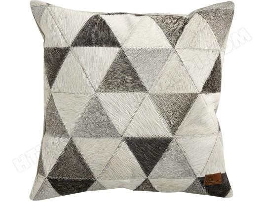coussin home spirit kin coussin d co 45x45 cuir pas cher. Black Bedroom Furniture Sets. Home Design Ideas