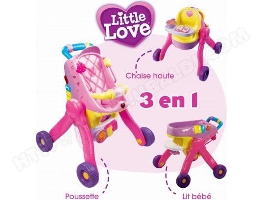 Jeu d'imitation VTECH Little Love ma poussette 3 en 1 interactive