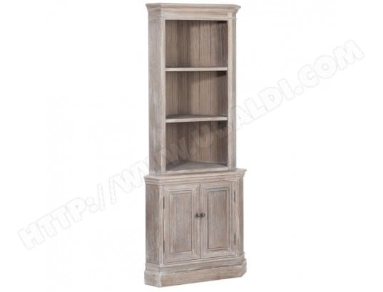 armoire de coin en bois naturel amelle l 52 x l 52 x h 180 tousmesmeubles ma 46ca194armo. Black Bedroom Furniture Sets. Home Design Ideas