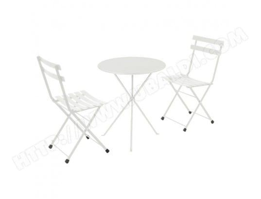 Salon de jardin 2 personnes en acier et tôle pleine: chaises + 1 ...