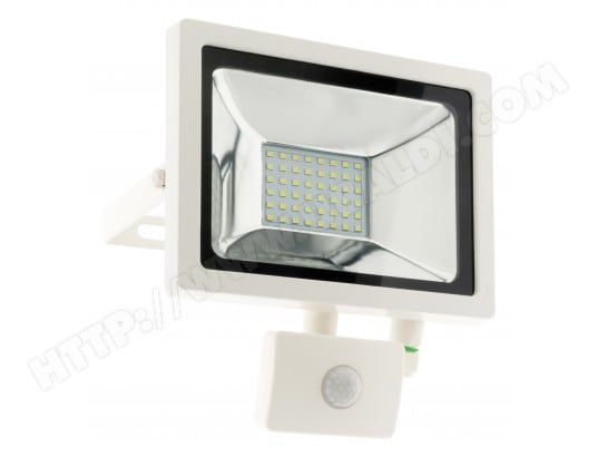 projecteur led 20w blanc avec d tecteur ip44 elexity ma 49ca214proj yedt2 pas cher. Black Bedroom Furniture Sets. Home Design Ideas
