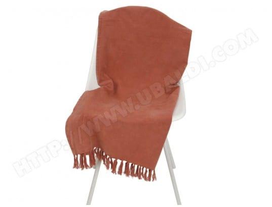 plaid d 39 t en coton frange effet d lav 95x175cm fahel rouge decoris ma 77ca185plai xhng1 pas. Black Bedroom Furniture Sets. Home Design Ideas