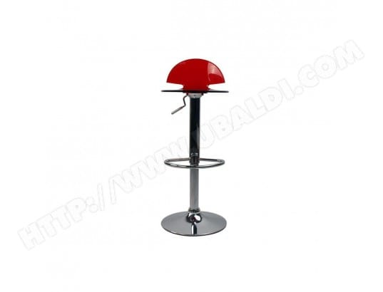 Tabouret De Bar Cuisine Design En Plexiglas Rouge Transparent