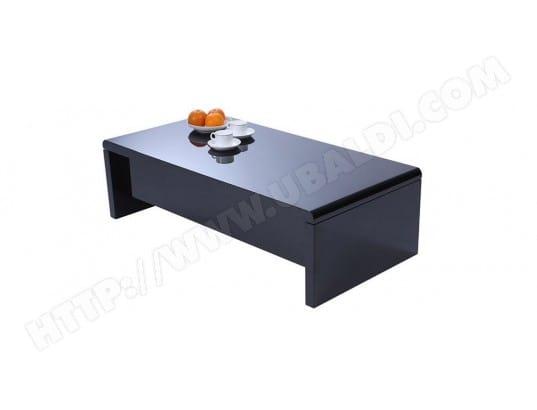 Table noire LOLA design basse rangement réglable avec fIgmYb6y7v